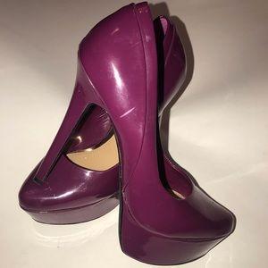 Maroon jessica Simpson patent heels
